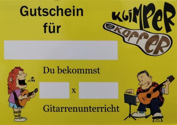 Unser Gutschein Gitarrenunterricht Leipzig